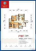 洞庭名邸3室2厅2卫0平方米户型图