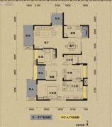 保利国际城翡丽湾4室2厅2卫153平方米户型图