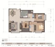 医大广场3室2厅2卫118平方米户型图
