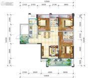 阳光西雅图3室2厅2卫129平方米户型图