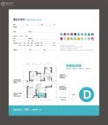 金辉C园3室2厅1卫108平方米户型图