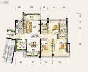 颐安・��景湾3室2厅2卫142平方米户型图