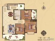 美伦・香颂3室2厅1卫115平方米户型图