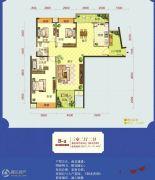 怡景江南3室2厅2卫123--127平方米户型图