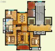 现代大厦3室2厅2卫136平方米户型图