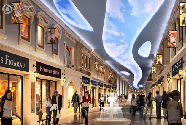 衍宏·万国大都会威尼斯风情商业街效果图