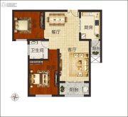 佳合如苑2室2厅1卫90平方米户型图