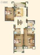 新榕金城华府3室2厅2卫112平方米户型图