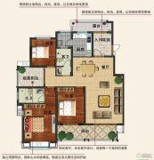 香江帝景3室2厅2卫140平方米户型图