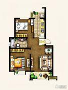 金东城世家2室1厅1卫82平方米户型图