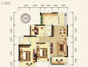万昌东方巴黎3室2厅2卫99平方米户型图
