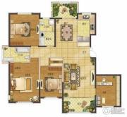 香江湾4室2厅2卫167平方米户型图