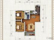春申・君临天下2室2厅1卫117平方米户型图