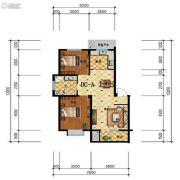 步阳江南甲第2室2厅1卫85平方米户型图