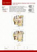 瀚城国际二期3室3厅3卫318平方米户型图