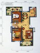 景园・盛世华都2室2厅1卫106平方米户型图