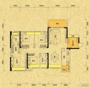 佳兆业东江新城4室2厅2卫128平方米户型图
