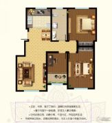 东郡3室2厅1卫117--119平方米户型图