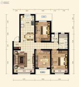 融创城3室2厅1卫99平方米户型图
