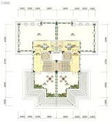 招商・依云雍景湾0室2厅2卫38平方米户型图