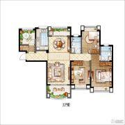 雅居乐・星河湾4室2厅2卫132平方米户型图