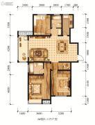江山花园3室1厅2卫117平方米户型图