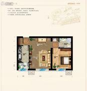 天元蓝城1室2厅1卫91平方米户型图