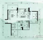 云顶澜山3室2厅1卫90平方米户型图