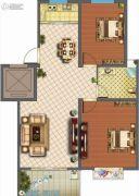 君悦国际花园2室2厅1卫94平方米户型图