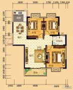 河畔春秋二期・碧水雅居3室2厅1卫102平方米户型图
