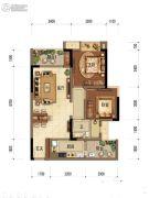 中海阅江阁2室2厅1卫66平方米户型图