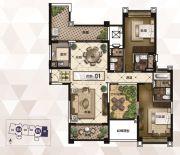 雅居乐御龙山2室2厅2卫174平方米户型图