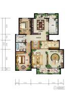 廊坊新世界花园2室2厅2卫182平方米户型图