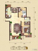 金梦海湾1号2室2厅1卫114平方米户型图