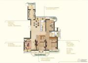 苏宁睿城3室2厅2卫144平方米户型图