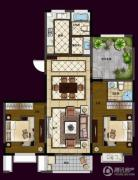 华夏世纪锦园3室2厅2卫125平方米户型图