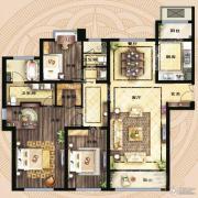 保利海德公馆4室2厅2卫168平方米户型图