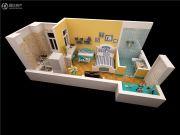 泰华・金汇时代1室1厅1卫37平方米户型图