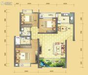 中虹新城3室2厅2卫103平方米户型图