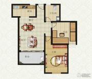 山畔景苑2室2厅1卫89平方米户型图