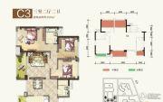 瑞松・中心城3室2厅2卫0平方米户型图