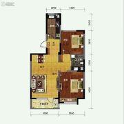 保利溪湖林语2室2厅1卫94平方米户型图