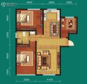 九鼎翼龙华庭3室2厅1卫112平方米户型图
