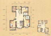 奥园康城3室2厅2卫134平方米户型图