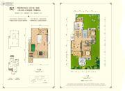 东方剑桥柔波里2室2厅2卫240平方米户型图