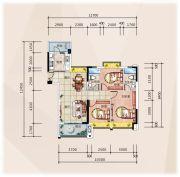 �R豪领逸3室2厅2卫111--112平方米户型图