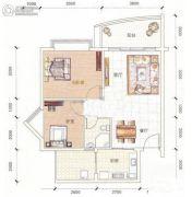 江源半岛花园2室2厅1卫72平方米户型图