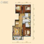 远洋大河宸章3室2厅2卫120平方米户型图