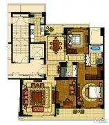 昆仑公馆3室2厅2卫180平方米户型图