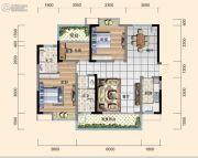 日盛・桂花城3室2厅2卫112平方米户型图